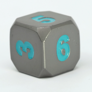 Single d6 - Forge Gunmetal Teal