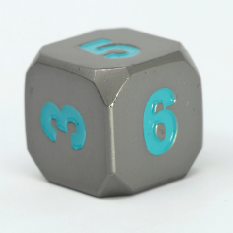 Single d6 - Forge Gunmetal w/ Teal