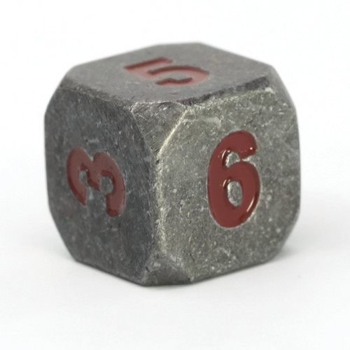 Single d6 - Forge Raw Steel w/ Dark Red