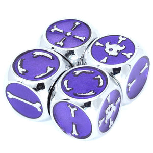 Set of 4 Brute Force Fudge Dice - Silver Amethyst
