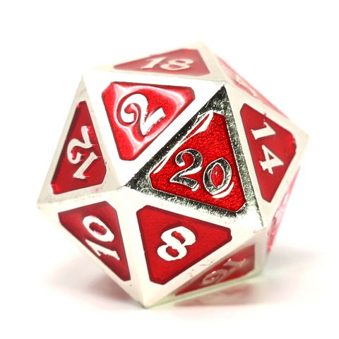 Single d20 - Mythica Platinum Ruby