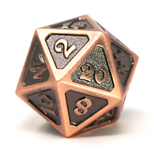 Single d20 - Mythica Battleworn Copper