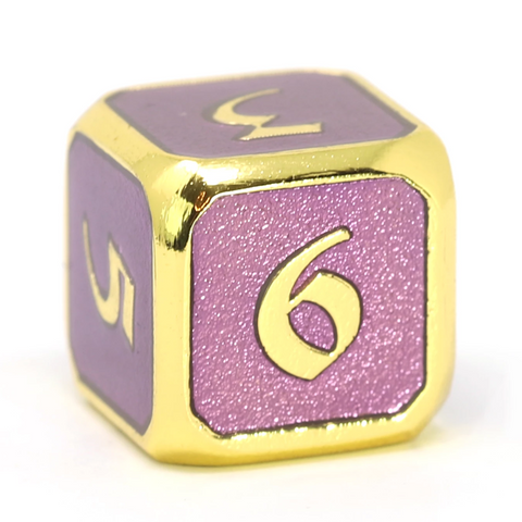 Single d6 - Mythica Gold Amethyst