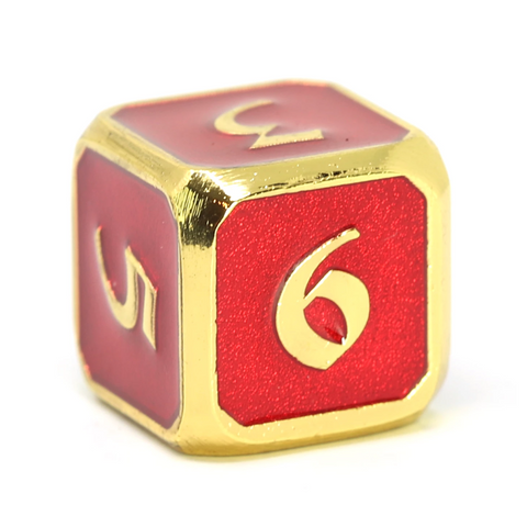 Single d6 - Mythica Gold Ruby