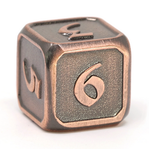 Single d6 - Mythica Battleworn Copper