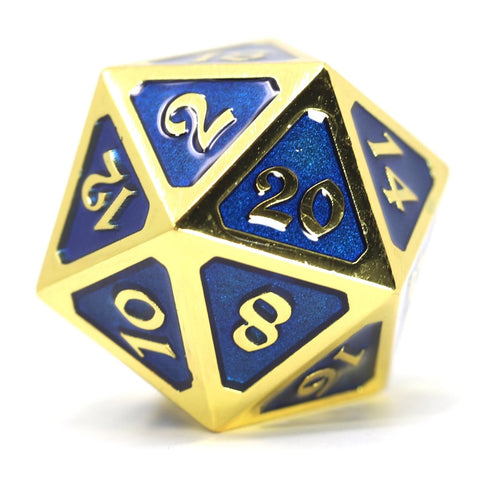Dire d20 - Mythica Gold Sapphire