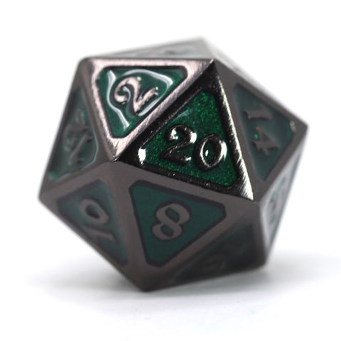 Single d20 - Mythica Sinister Emerald