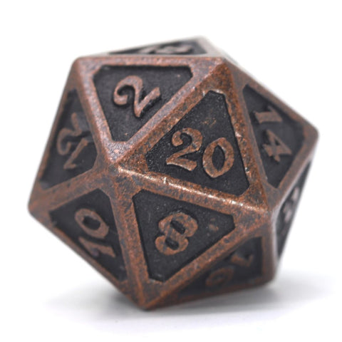 Single d20 - Mythica Dark Copper
