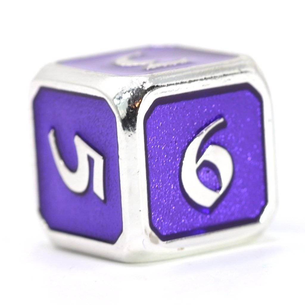 Single d6 - Mythica Platinum Amethyst