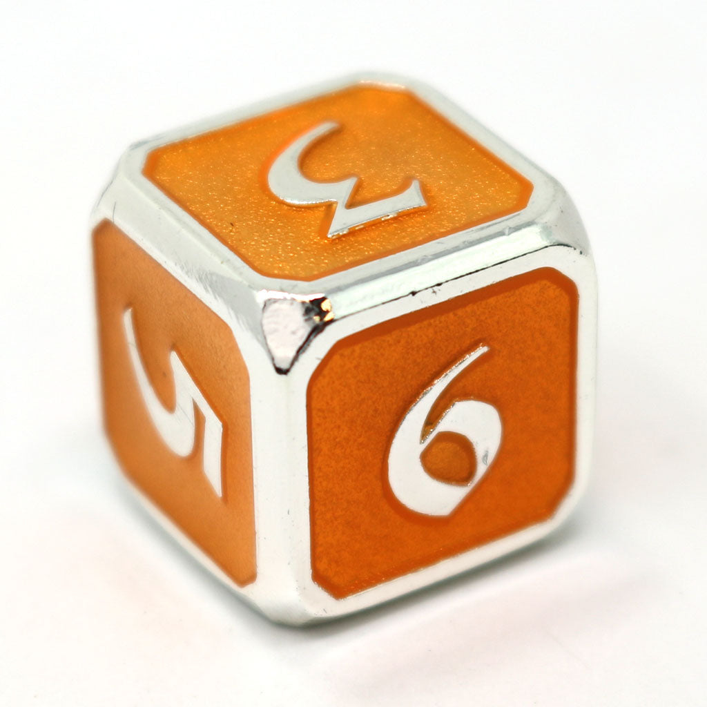 Single d6 - Mythica Platinum Citrine