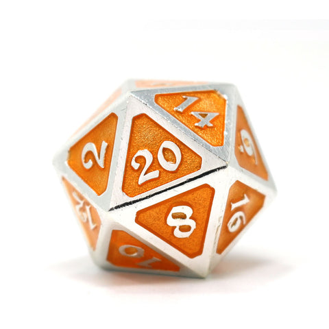 Single d20 - Mythica Platinum Citrine