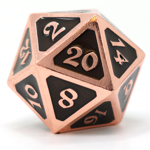 Dire d20 - Mythica Copper Onyx