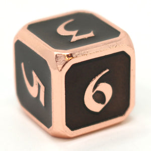 Single d6 - Mythica Copper Onyx