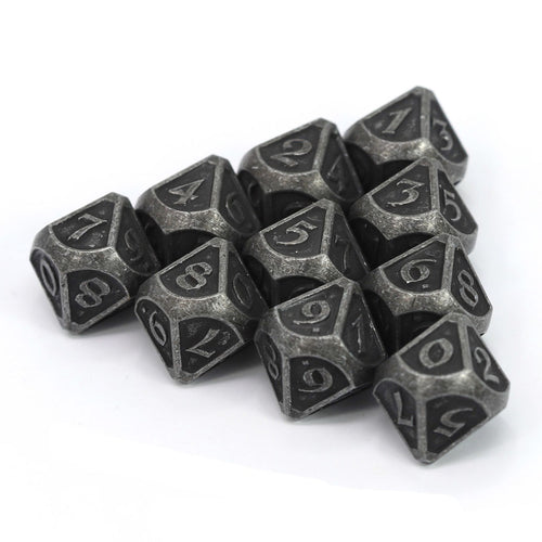 d10 Set - Mythica Dark Iron