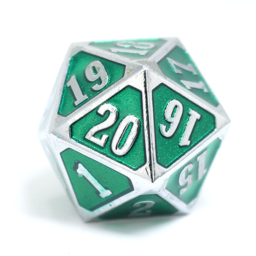 MTG Roll Down Counter - Shiny Silver Emerald