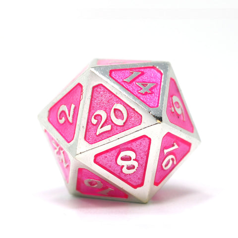 Single d20 - Mythica Platinum Pink Sapphire
