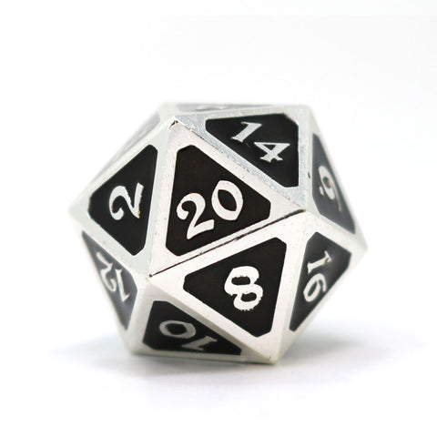 Single d20 - Mythica Platinum Onyx