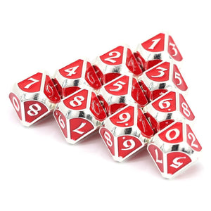 d10 Set - Mythica Platinum Ruby