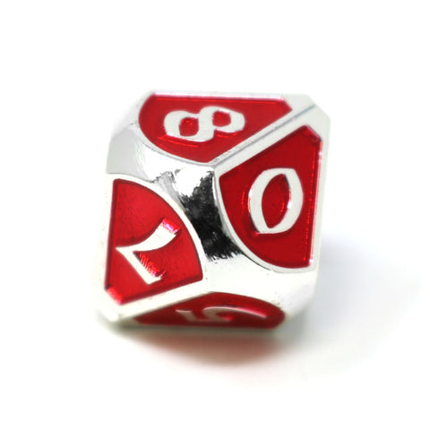 Single d10 - Mythica Platinum Ruby
