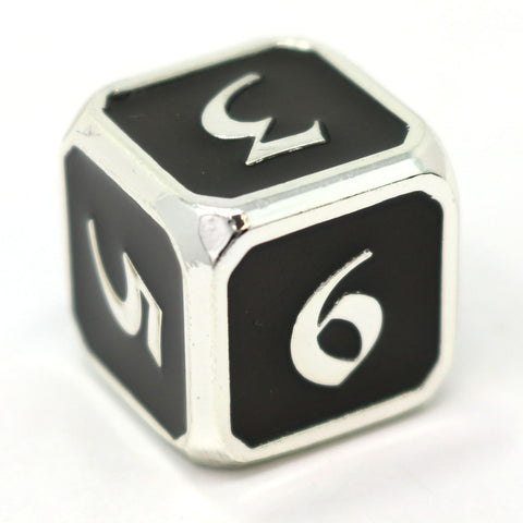 Single d6 - Mythica Platinum Onyx