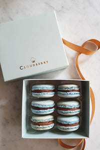 Gift box of Dingle whiskey caramel macarons