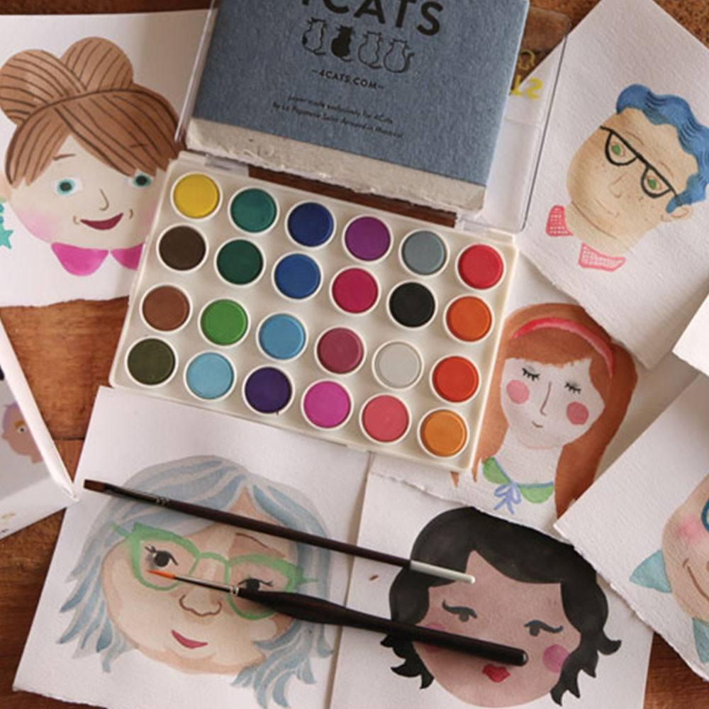 Paint a Portrait Watercolour Kit