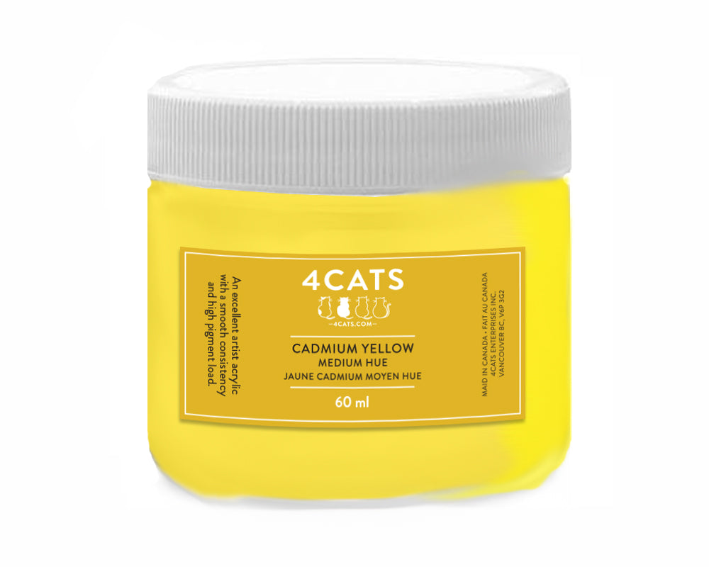 4Cats Acrylic 60 mL | Yellow