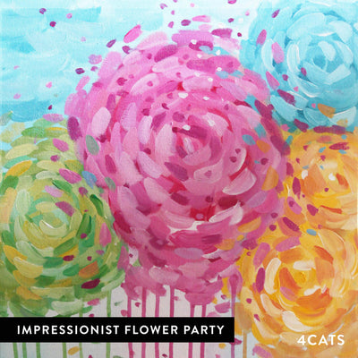 4Cats Adult Impressionist Painting Party