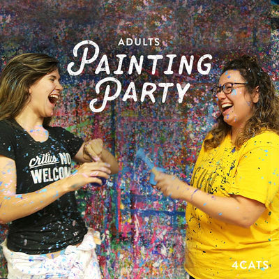 Adult Acrylic Painting and Splatter Painting Parties