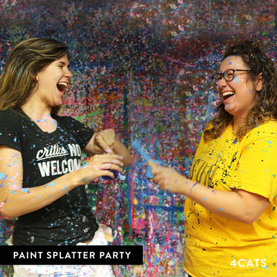 4Cats Adult Paint Splatter Party