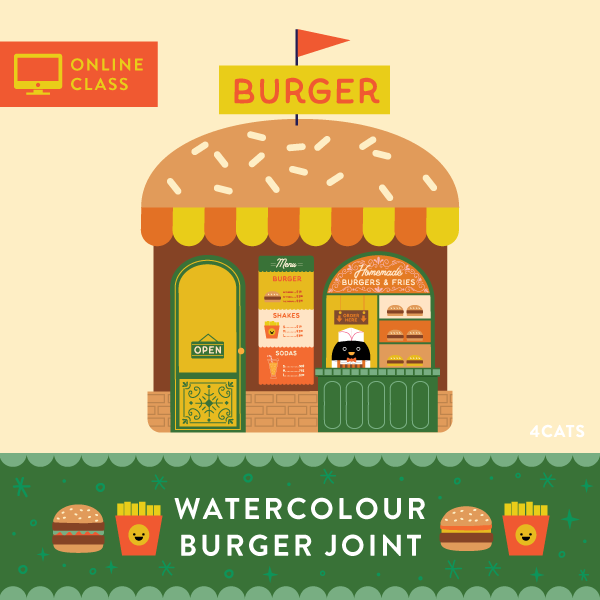Burger Joint Watercolour Bundle Kit