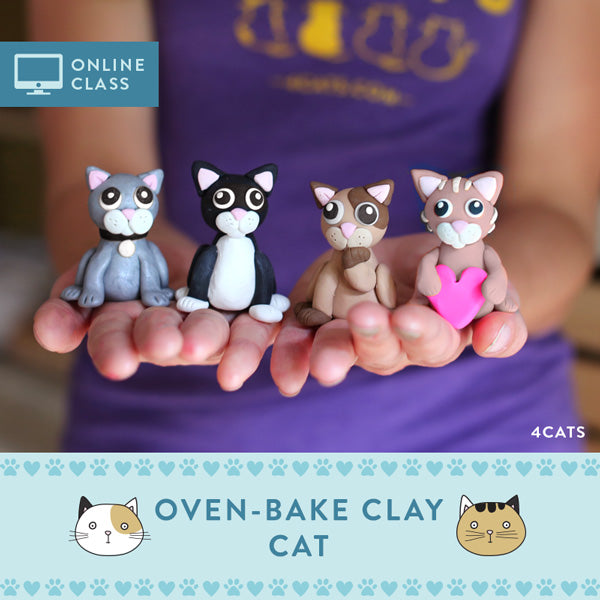 Sculpt a Cat Kit with Online Tutorial