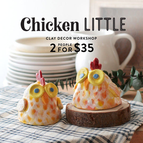 Chicken Little Clay Sculpture