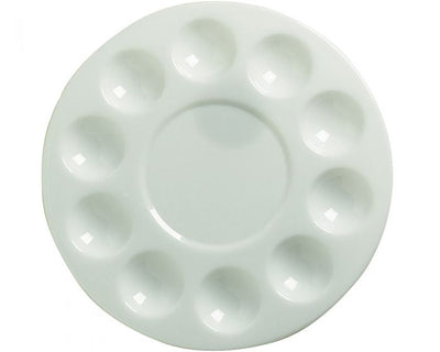 "7-1/2"" Diameter Round Plastic Palette Tray - 10 Well 