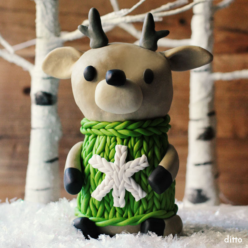 Cutie Cozy Deer in a Sweater Kit with Online Tutorial