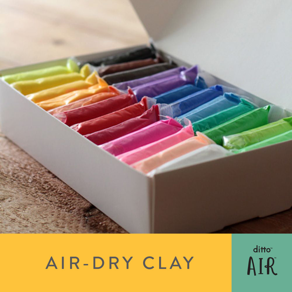 Ditto AIR - Air Dry Clay 24 Colour Set