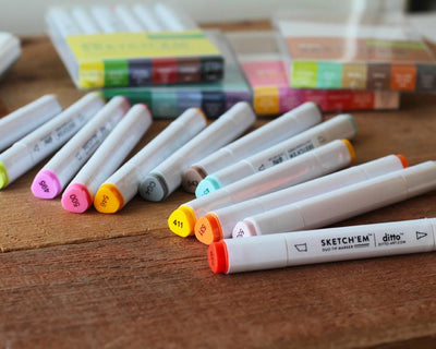 Sketch 'Em Markers by Ditto