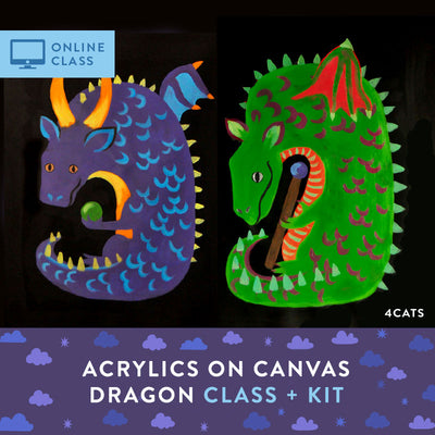 Online Class and Kit | Dragon Acrylic Painting