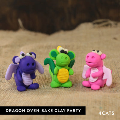 Kids Dragon Oven-Bake Clay Party
