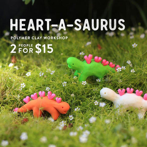 Heart-A-Saurus Oven-Bake Clay Workshop