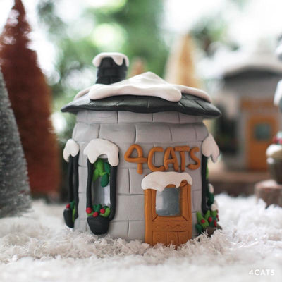 Home For The Holidays Oven-Bake Clay Tealight House