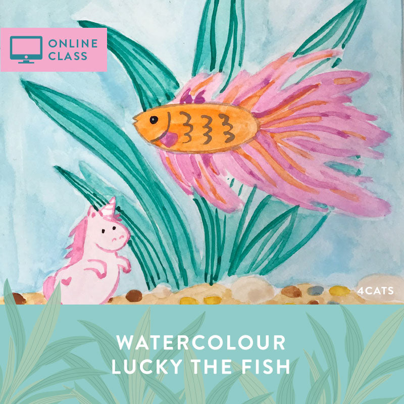 Online class | Lucky the Fish Watercolour