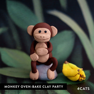 Kids Monkey Oven-Bake Clay Party