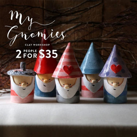 My Gnomies Clay Sculpture
