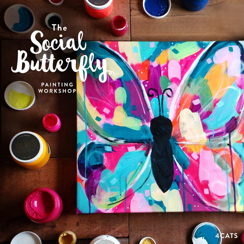 The Social Butterfly Painting