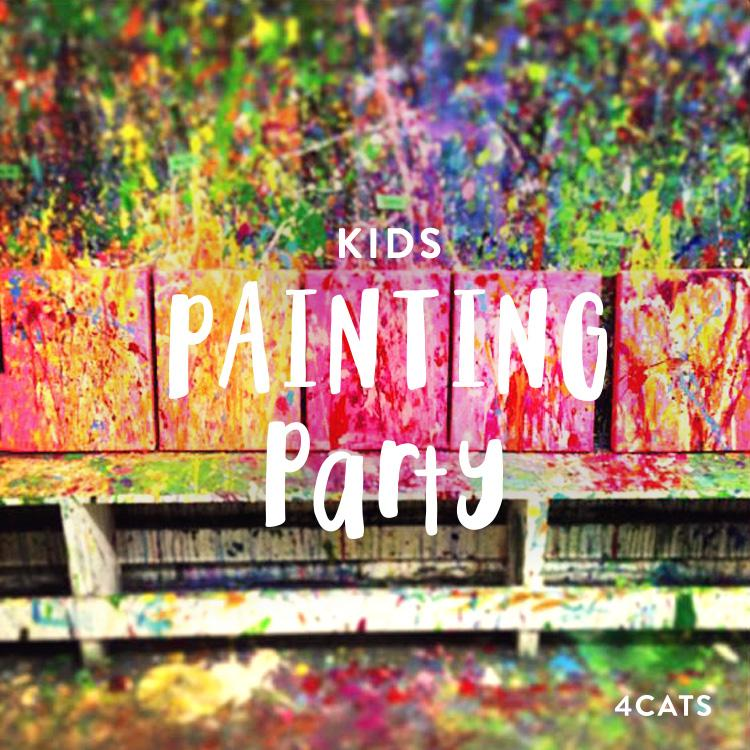 Kids Acrylic Painting and Splatter Painting Parties