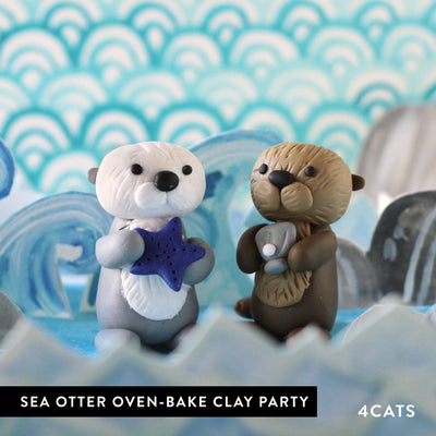 Kids Sea Otter Oven-Bake Clay Party
