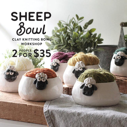 Sheep Bowl Clay Workshop