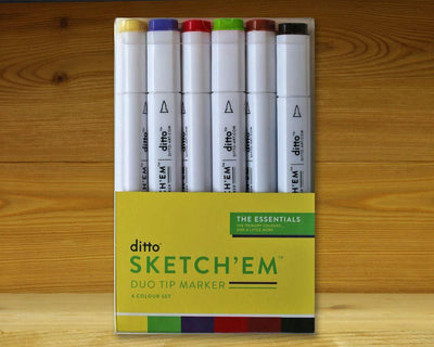 Sketch 'Em Markers Essentials Set