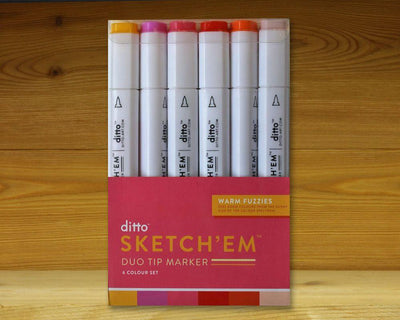Sketch 'Em Markers Warm Fuzzies Set